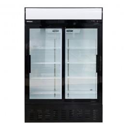 Blizzard GD900SL Sliding Twin Door Merchandiser with 8 Shelves & Canopy