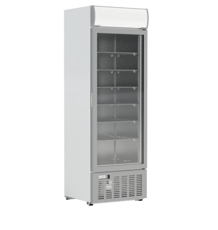 Crystal GDS400 Upright Triple Glazed Single Flat Door Display Freezer