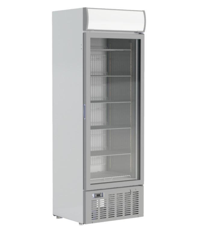 --- CRYSTAL GDV400 --- Upright Triple Glazed Single Flat Door Display Freezer