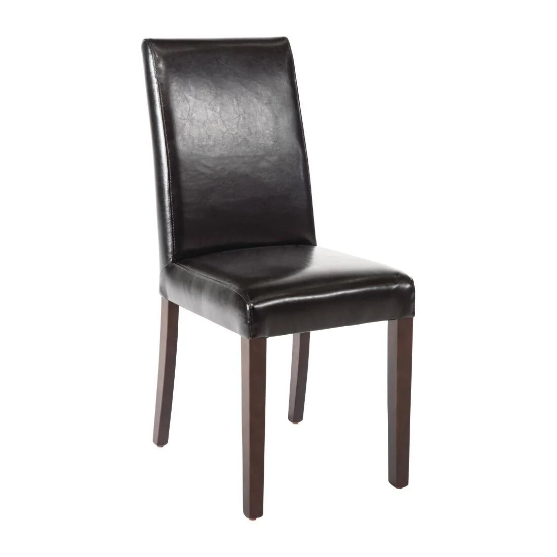 Bolero GF954 Black Faux Leather Dining Chairs - Pack 2 (Default)