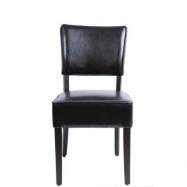 Bolero GF957 Dark Brown Chunky Faux Leather Chairs - Pack 2