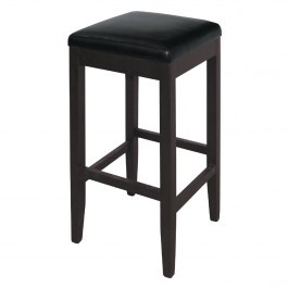 Bolero GG648 Black Faux Leather High Bar Stools - Pack 2