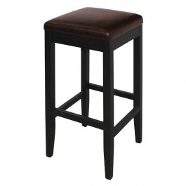 Bolero GG649 Dark Brown Faux Leather High Bar Stools - Pack 2