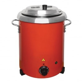 Buffalo GH227 Red Soup Kettle with Adjustable Heating - 5.7