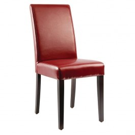 Bolero GH443 Dark Red Faux Leather Dining Chairs - Pack 2