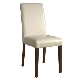 Bolero GH444 Cream Faux Leather Dining Chairs - Pack 2