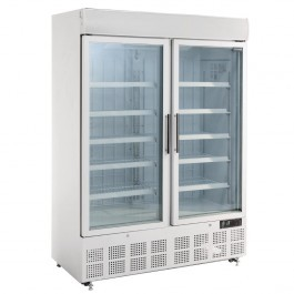 Polar GH507 Glass Double Door Display Freezer with Light Box