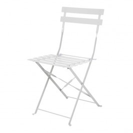 Bolero GH551 Grey Steel Frame & Seat Pavement Style Folding Chairs - Pack 2