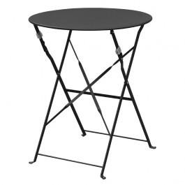 Bolero GH558 Black Round Pavement Style Steel Table 595mm