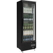 Polar GJ447 Upright Back Bar Black Bottle Cooler Single Door
