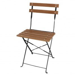 Bolero GJ766 Steel Frame and Faux Wood Seat Folding Chair - Pack of 2