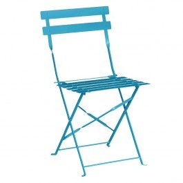 Bolero GK982 Blue Steel Frame & Seat Pavement Style Folding Chairs - Pack 2