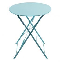 Bolero GK983 Seaside Blue Round Pavement Style Steel Table 595mm