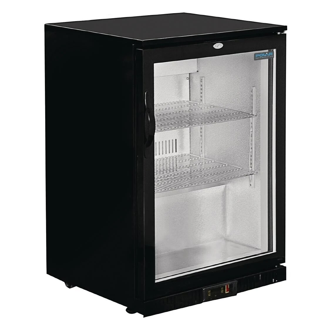 Polar GL001 G-Series Single Hinged Door Black Cooler with LED Lighting