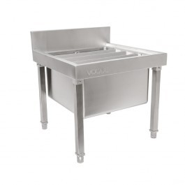 Vogue GL281 Stainless Steel Mop Sink With Upstand & Waste Kit - W500mm