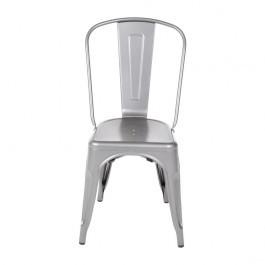 Bolero GL329 Stackable Bistro Steel Side Chairs Gun Metal Grey Pack of 4