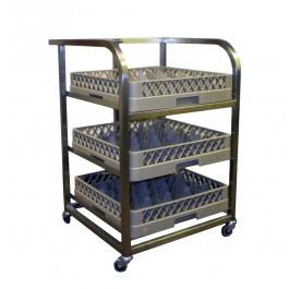 Craven GLA3-Z Stainless Steel Back Bar Dishwasher Trolley