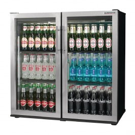 Autonumis A215180 Popular Silver Hinged Double Door 3 Foot Bottle Cooler