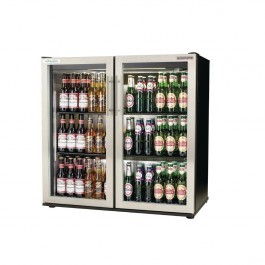 Autonumis A215189 EcoChill 3ft Black Hinged Double Door Bottle Cooler