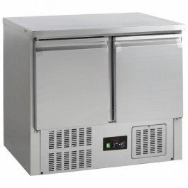 G-Line Tefcold GS91 Stainless Steel Two Door Gastronorm 1/1 Counter