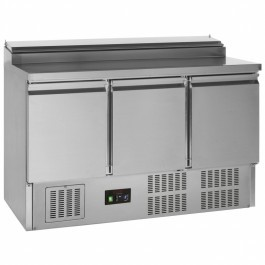 G-Line Tefcold GSS435 Stainless Steel Three Door Gastronorm Saladette Counter