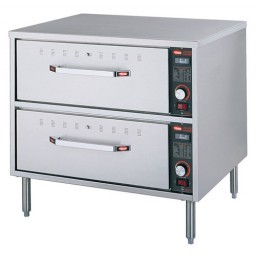 Hatco HDW-2N Freestanding Narrow Two Drawer Warmer 1