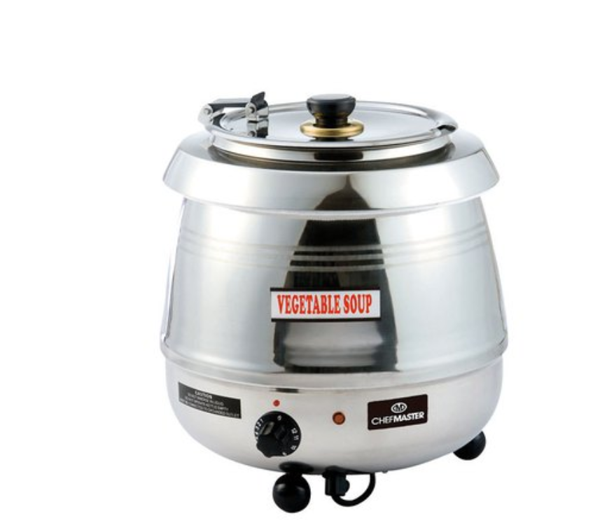 Chefmaster HE9575 Cauldron Style Soup Kettle Stainless Steel 10 Litre
