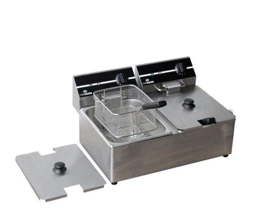 Chefmaster HEA753 Countertop 2 x 6 Litre Electric Fryer Twin Tank