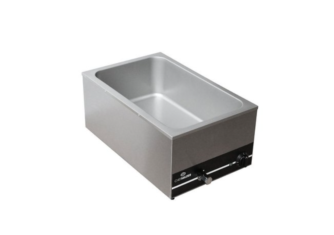 Chefmaster HEA758 Wet Well Bain-Marie GN 1/1 with Drain Tap