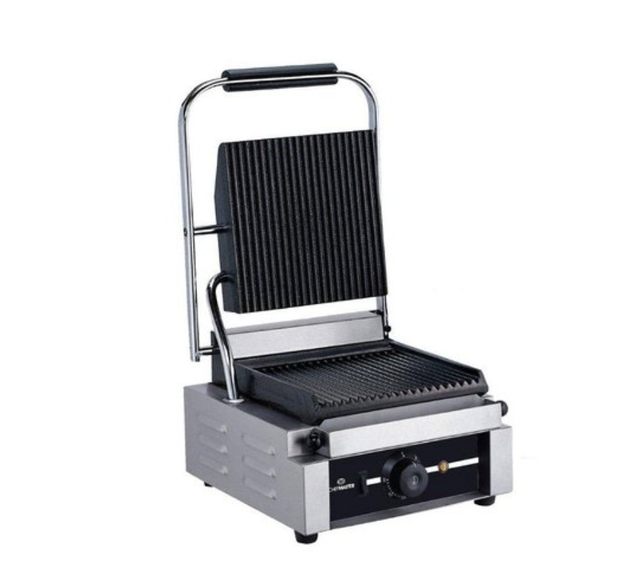 Chefmaster HEA773 Single Contact Grill with Ribbed Plates
