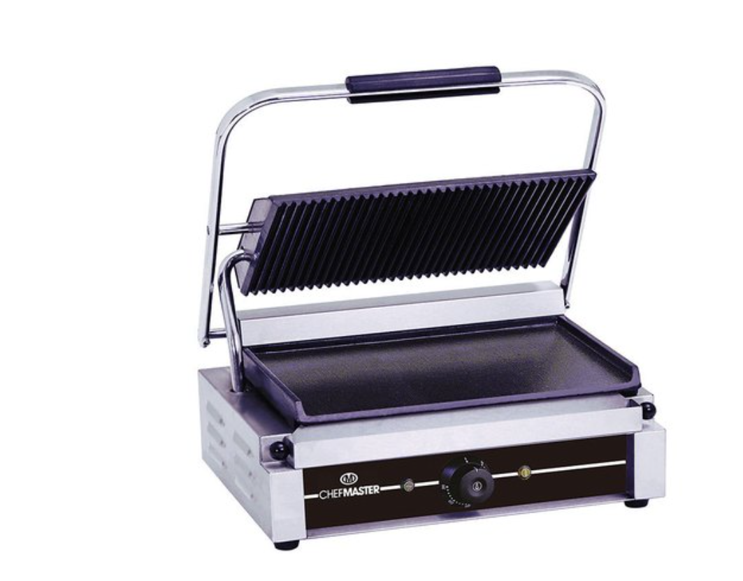 Chefmaster HEA788 Large Single Contact Grill with Flat Plates