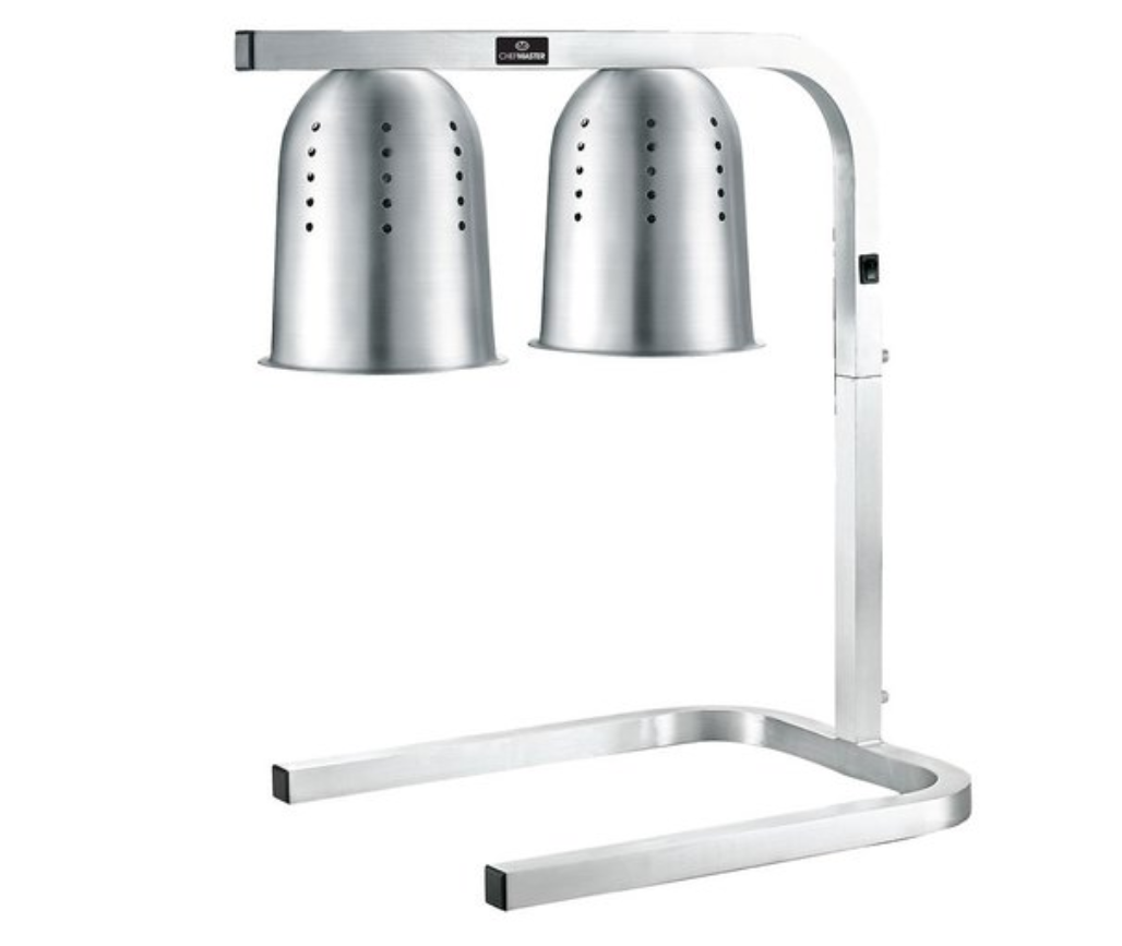 Chefmaster HEA887 Aluminium Double Lamp Food Warmer