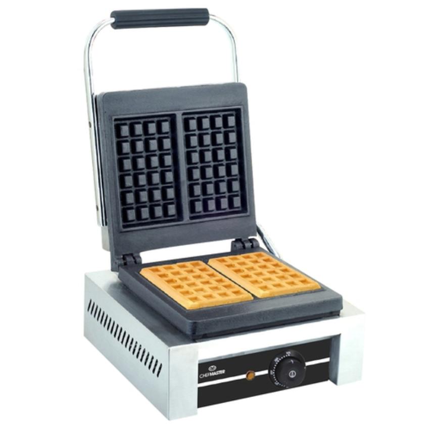 Chefmaster HEB081 4 x 6 Square Pattern Waffle Iron