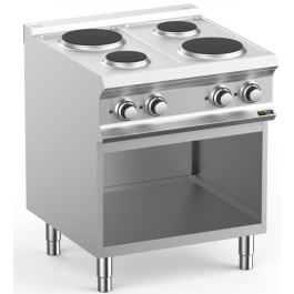 Hobart Ecomax HEPR77A Four Plate Electric Hob With Open Cupboard