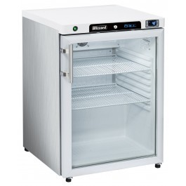 --- BLIZZARD HG200SS --- Stainless Undercounter Single Glass Door Refrigerator