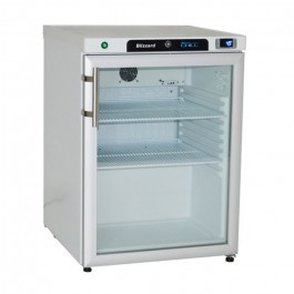 --- BLIZZARD HG200WH --- White Undercounter Single Glass Door Refrigerator