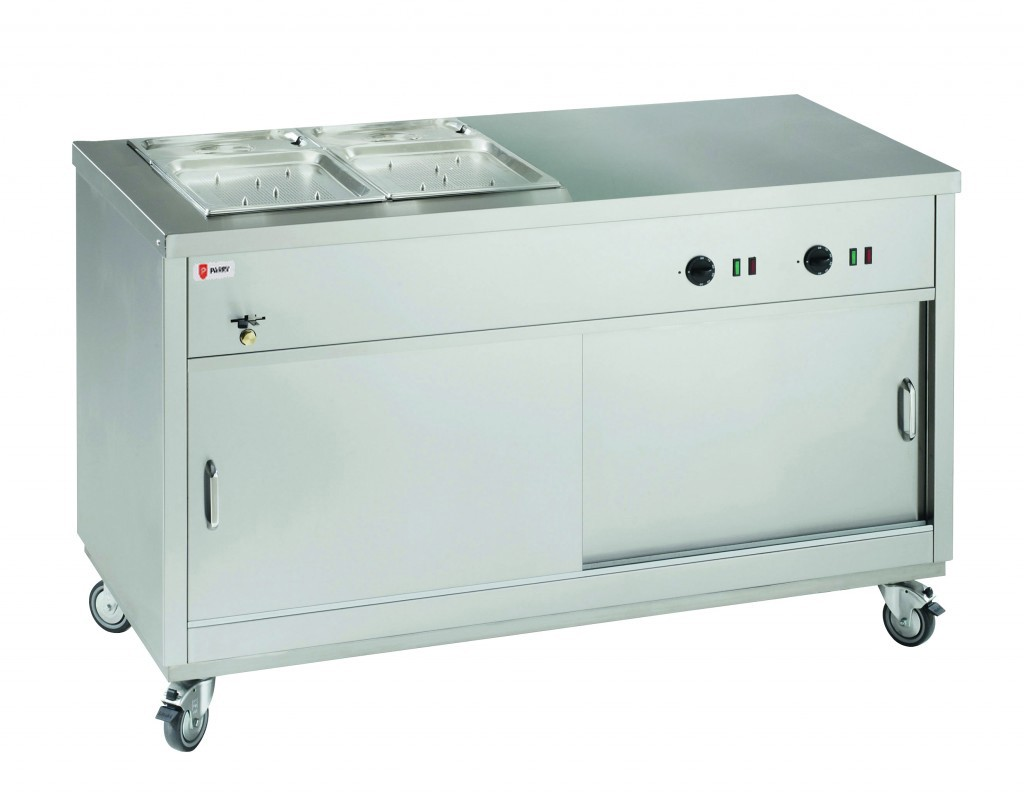 Parry HOT151/2BM Half Bain Marie Topped Half Solid Top Hot Cupboard