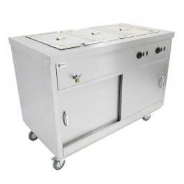 Parry HOT18BM hot cupboard with bain marie top 3