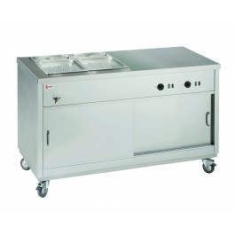 Parry HOT181/2BM Half Bain Marie Topped Half Solid Top Hot Cupboard