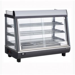 --- BLIZZARD HSS136 --- Heated Black & Silver Counter Top Display