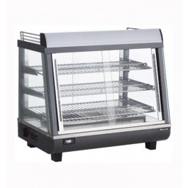 --- BLIZZARD HSS96 --- Heated Black & Silver Counter Top Display