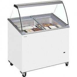 Tefcold IC200SCEB + CANOPY Sliding Lid Sloping Display Chest Freezer
