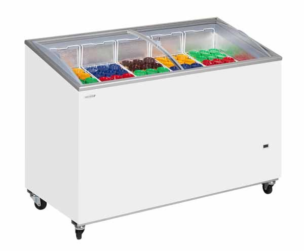 Tefcold IC400SCEB Sliding Curved Glass Lid Chest Freezer