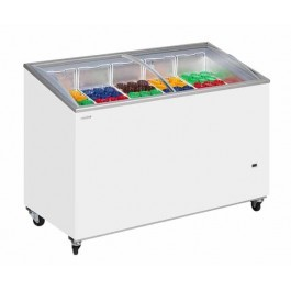 Tefcold IC500SCEB Sliding Curved Glass Lid Chest Freezer