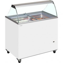 Tefcold IC400SC + CANOPY Glass Lid Chest Freezer 1