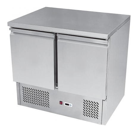 Ice-A-Cool ICE3801GR Twin Door Stainless Steel Counter Refrigerator