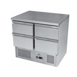Ice-A-Cool ICE3820GR Four Drawer Stainless Steel Counter Refrigerator