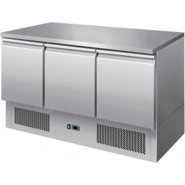 Ice-A-Cool ICE3851GR Three Door Stainless Steel Counter Refrigerator