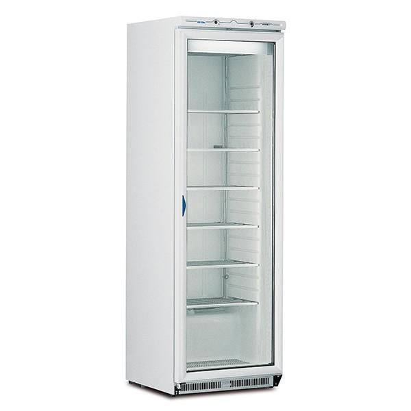 Mondial Elite ICEN40 Single Glass Door White Freezer with 6 Shelves