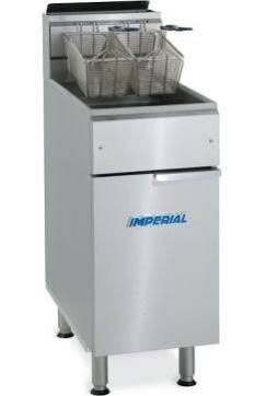 Imperial IFS-40-OP (Open Pot) Single Tank Freestanding Gas Fryer